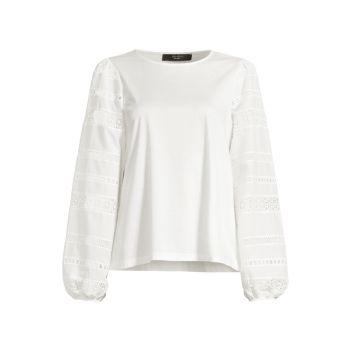 Хлопковая блуза Giotto из джерси Weekend Max Mara