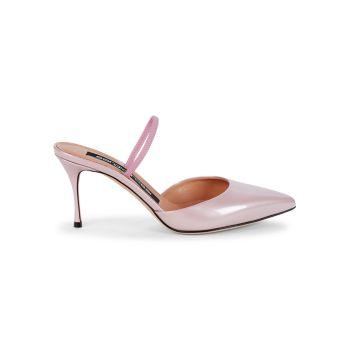Туфли Vernice из лакированной кожи с металлическим покрытием Sergio Rossi