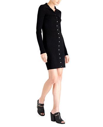 Текстурированное облегающее платье-рубашка LEYDEN