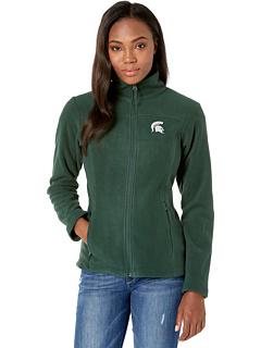 Штат Мичиган Спартанцы CLG Give and Go ™ II Флисовая куртка на молнии Columbia College