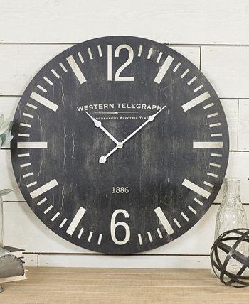 Деревянные настенные часы с диагональю 23 дюйма VIP Home & Garden