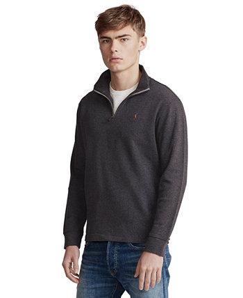 Мужской пуловер с большими и высокими воротниками на молнии Ralph Lauren