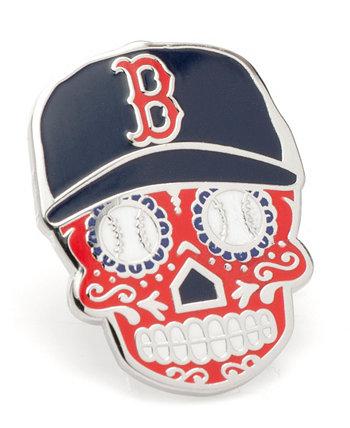 Мужская мужская булавка Boston Red Sox с сахарным черепом на лацкане MLB