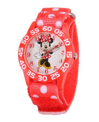 Красные пластичные часы для учителей Disney Minnie Mouse Girls Ewatchfactory