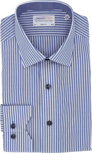 Классическая рубашка с принтом в бенгальскую полоску и отделкой Lorenzo Uomo