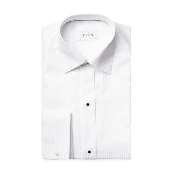 Классическая рубашка в атласную полоску современного кроя Eton