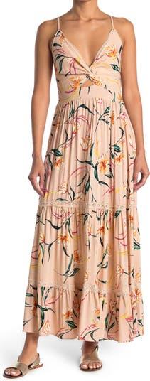 Floral Sleeveless Smocked Maxi Dress Angie