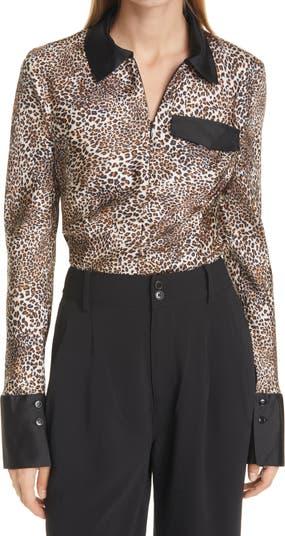 Шелковая блуза Mirinda с животным принтом BAUM UND PFERDGARTEN