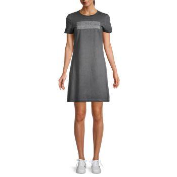 Мини-платье-футболка с графическим логотипом Calvin Klein Jeans