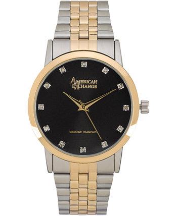 Мужские подлинные часы с бриллиантами, 40 мм American Exchange