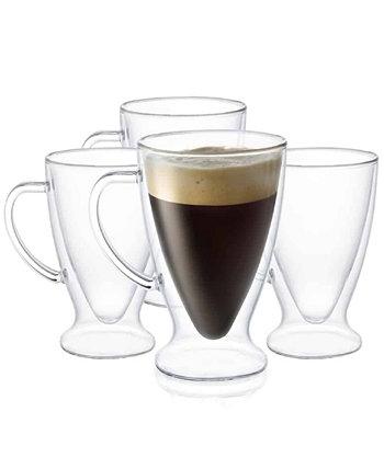 Кружки Declan Irish Coffee с двойными стенками, изолированные, 4 шт. JoyJolt