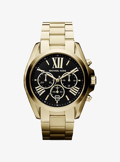 Большие золотые часы Bradshaw Michael Kors