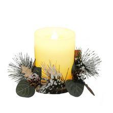 St. Nicholas Square® Botanical Artificial LED Pillar Candle Table Decor St. Nicholas Square