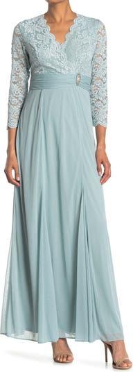Кружевное платье с зубчатым вырезом MARINA