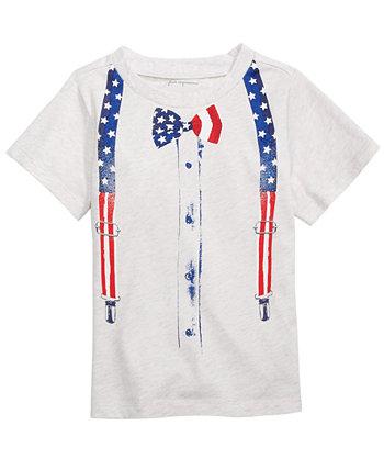 Красная, бело-синяя футболка с галстуком-бабочкой для маленьких мальчиков, созданная для Macy's First Impressions