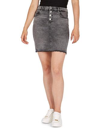 Джинсовая юбка-карандаш с пуговицами Numero