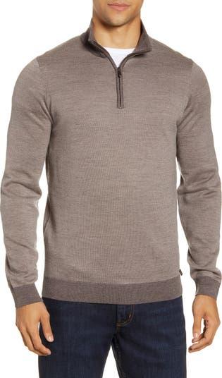 Шерстяной пуловер на молнии до четверти Steffen Brax