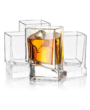 Стаканы для виски Carre Square, набор из 4 шт. JoyJolt