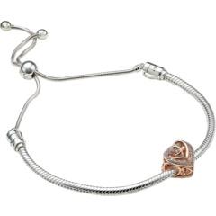 Подарочный набор браслетов из сверкающих переплетенных сердечек PANDORA