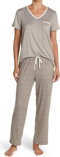 Short Sleeve V-Neck Pant PJ Set Carole Hochman