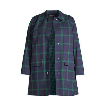 Пальто McKinleigh в клетку Lafayette 148 New York, Plus Size