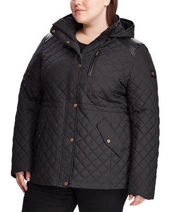 Стеганое пальто больших размеров с капюшоном, созданное для Macy's Ralph Lauren