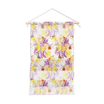 "Ninola Design Flowers Sweet Bloom Желтый настенный портрет, 11 ""x16"" Deny Designs"
