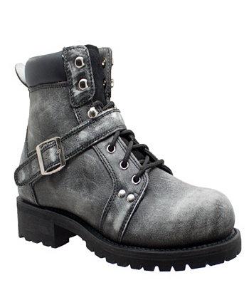 Мужские 6-дюймовые кружевные ботинки на молнии AdTec