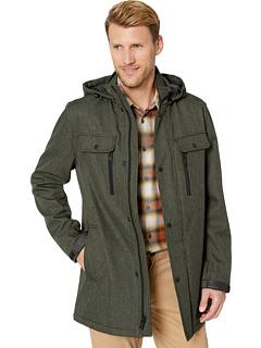 Меланжевая куртка средней длины с капюшоном Marc New York by Andrew Marc