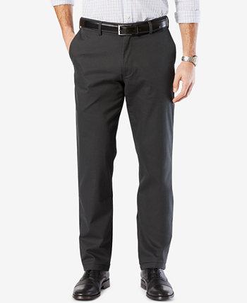 Мужские фирменные роскошные хлопковые брюки прямого кроя стрейч цвета хаки Dockers