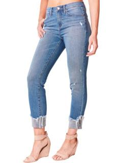 Темно-синие джинсы с манжетами Eco Denim Nicole Miller New York