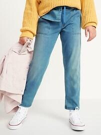 Спортивные штаны с кулиской для девочек French Terry Old Navy