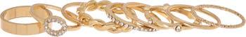 Набор золотых колец с кристаллами - набор из 9 предметов Panacea