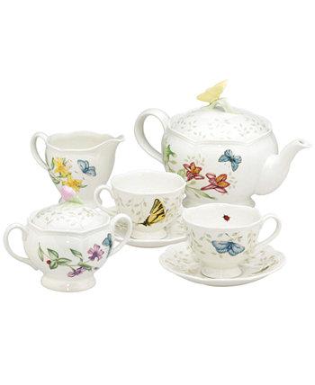 Чайный сервиз Butterfly Meadow из 7 предметов, сервиз для двоих Lenox