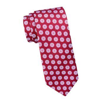 Шелковый галстук большого размера с медальоном Charvet