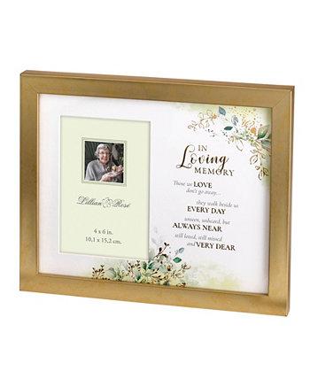 Мемориальная фоторамка с ботанической тематикой и стихами из сочувствия Lillian Rose