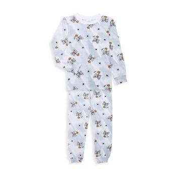 Двухкомпонентный длинный пижамный комплект Little Boy's Boy's Wolf Esme