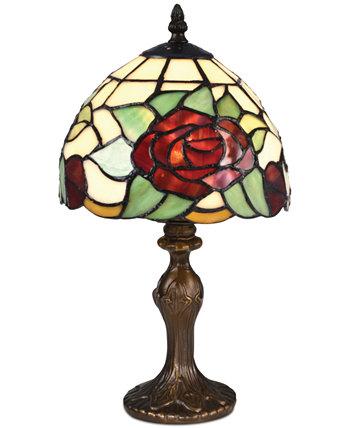 Индийская розовая лампа с акцентом Dale Tiffany