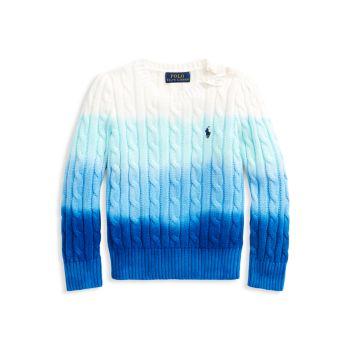 """Вязаный свитер """"Омбре"""" для маленьких девочек и девочек Ralph Lauren"""