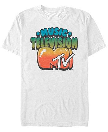 Мужская футболка с логотипом Gradient Bubble Letters с коротким рукавом MTV