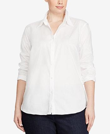 Рубашка большого размера без железа с длинным рукавом Ralph Lauren