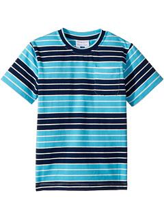 Темно-синяя футболка с карманами в полоску цвета морской волны (для малышей / маленьких детей / старших детей) Toobydoo