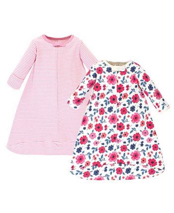 Baby Girls Garden Цветочный спальный мешок с длинным рукавом, 2 шт. В упаковке Touched by Nature