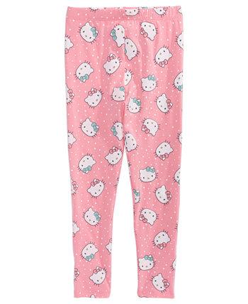 Леггинсы в горошек для маленьких девочек Hello Kitty