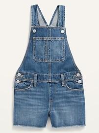 Джинсовые шорты средней стирки с потрепанным краем для девочек Old Navy