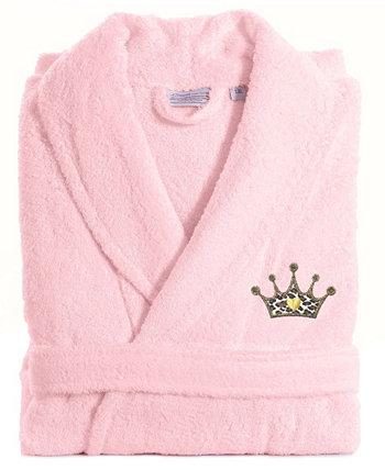 Вышитый халатом из махровой короны Cheetah Linum Home