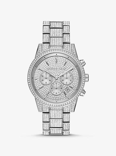 Серебряные часы Ritz Pavé Michael Kors