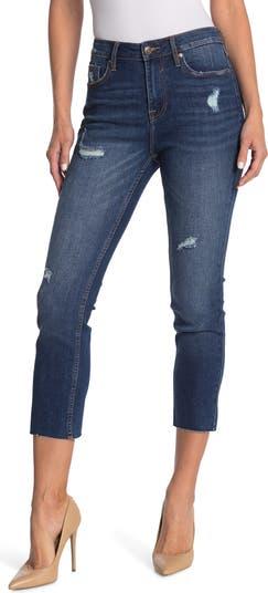 Укороченные прямые джинсы Stevie с необработанным краем Vigoss