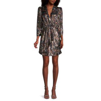 Платье с запахом из смесового шелка с принтом Milad IRO
