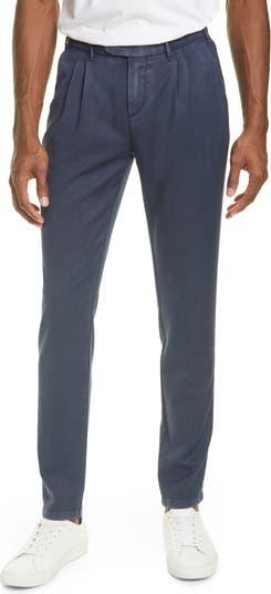 Slim Fit Washed Wool Dress Pants Eleventy